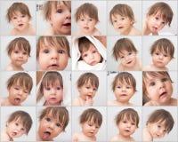 Bebé - cara de la emoción Fotos de archivo
