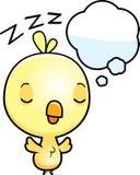 Bebé Chick Dreaming de la historieta stock de ilustración