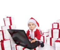 Bebé com caderno. Foto de Stock