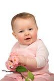 Bebé com flores Foto de Stock