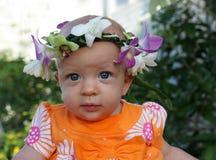 Bebé com leus principais Imagem de Stock