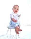 Bebé com sorriso imagem de stock