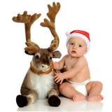 Bebé con Blitzen Imagen de archivo libre de regalías