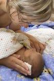 Bebé con daño de la sangría imagen de archivo libre de regalías