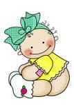 Bebé con el arqueamiento Fotos de archivo
