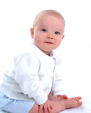 Bebé con el hoyuelo Fotografía de archivo