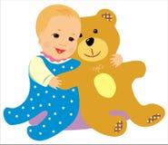 Bebé con el oso Fotos de archivo libres de regalías