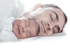 Bebé con el papá Foto de archivo