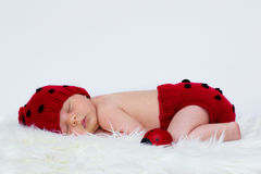 Bebé con el sombrero y los pantalones Imágenes de archivo libres de regalías