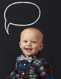 Bebé con la burbuja de la palabra Fotos de archivo libres de regalías