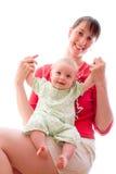 Bebé con la mama Foto de archivo libre de regalías