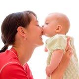 Bebé con la mama Imagen de archivo