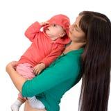 Bebé con la mama Imagenes de archivo