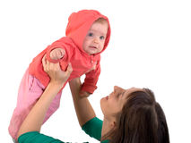Bebé con la mama Fotos de archivo libres de regalías