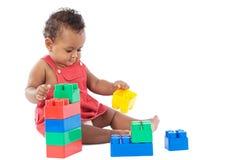 Bebé con los bloques Fotografía de archivo libre de regalías