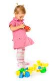 Bebé con los bloques imagen de archivo libre de regalías