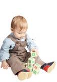 Bebé con los cubos Foto de archivo libre de regalías