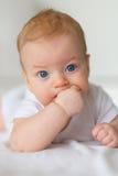 Bebé con los ojos azules Fotografía de archivo libre de regalías