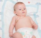 Bebé con los ojos azules Imagen de archivo
