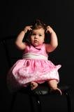 Bebé con los vidrios Imagen de archivo