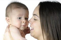 Bebé con su madre Fotografía de archivo libre de regalías