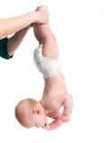 Bebé con su mamá que hace ejercicios Foto de archivo libre de regalías