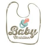 Bebé cristiano del â del diseño del vintage stock de ilustración