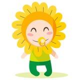 Bebé da flor Foto de Stock Royalty Free