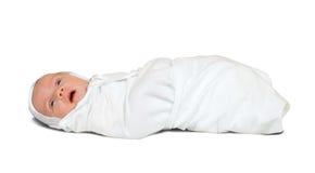 bebé de 1 mes en pañal Imagen de archivo libre de regalías