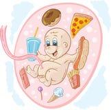 Bebé de la comida basura Fotografía de archivo