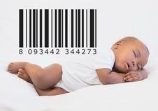 Bebé de la copia con el código de barras imagen de archivo libre de regalías