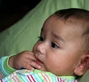 Bebé de la dentición Imagen de archivo libre de regalías
