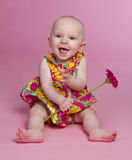 Bebé de la flor imagenes de archivo