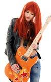 Bebé de la guitarra foto de archivo