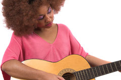 Bebé de la guitarra Fotografía de archivo