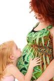 Bebé de la hija de la madre imagen de archivo libre de regalías