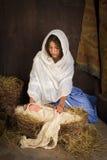 Bebé de la natividad de la Navidad Imagen de archivo libre de regalías
