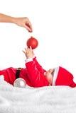 Bebé de la Navidad Foto de archivo libre de regalías