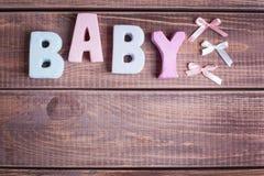 Bebé de la palabra Imágenes de archivo libres de regalías