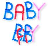 Bebé de la palabra del globo Imágenes de archivo libres de regalías
