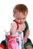 Bebé de la pintura Imagen de archivo