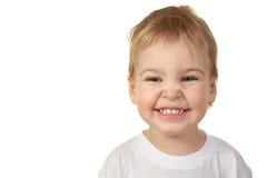 Bebé de la sonrisa aislado Foto de archivo