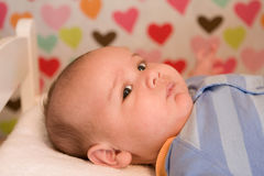 Bebé de la tarjeta del día de San Valentín Fotos de archivo libres de regalías