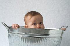Bebé de la tina Imagen de archivo libre de regalías