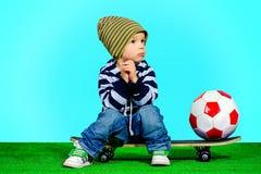 Bebé de pensamiento Imagen de archivo libre de regalías