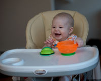 Bebé de risa Foto de archivo libre de regalías