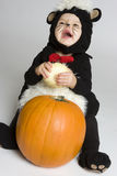Bebé de risa de la calabaza fotografía de archivo libre de regalías