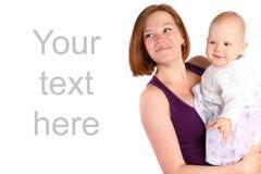 Bebé de risa que juega con la madre Imagen de archivo libre de regalías