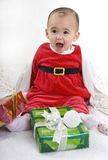 Bebé de Santa Fotografía de archivo libre de regalías