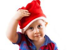 Bebé de Santa de la Navidad Fotografía de archivo